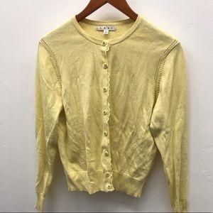 Lemon Button Up Cardigan - L